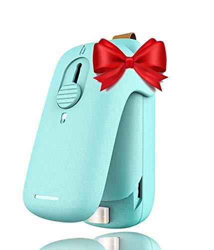 Bag Sealer 2 in 1 Handheld Heat Plastic Bag Sealer and Mini Portable Sealer Handheld Heat Vacuum Sealers for Plastic Bags Food Storage and Resealing Snack Bags