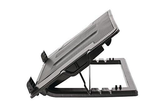 Eurosell Design Notebook Laptop Ständer Kühlung Kühler Stand + USB-HUB + 2X Fan Lüfter Cooler + LED Beleuchtung für 15 16 17 17,3 17,2 18 Zoll