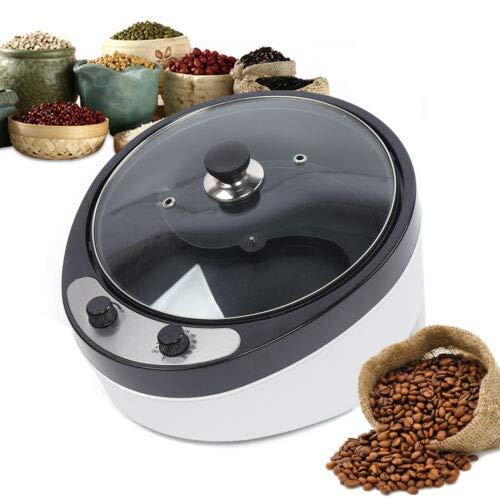1200W Elektrische Kaffee Röster Maschine, Röstmaschine für Kaffeebohnen Haushalt Rotations Kaffeeröster 800g, 45 ° Neigung