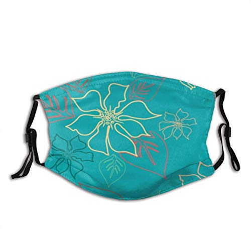Elegant Decorative Pattern Unisex Windproof and Dustproof Mouth Mask,Face Cover with Adjustable Elastic Strap