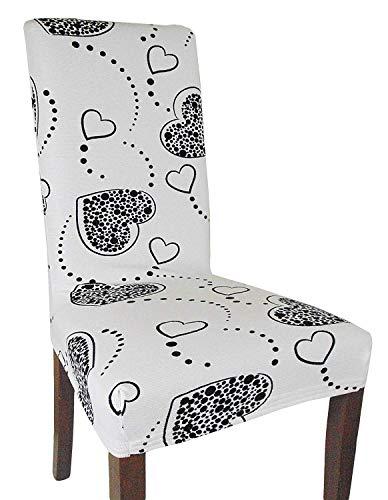 Joker Coprisedia vesti sedia millerighe elasticizzato 2 pezzi linea Cuori L671 NEVE / BIANCO