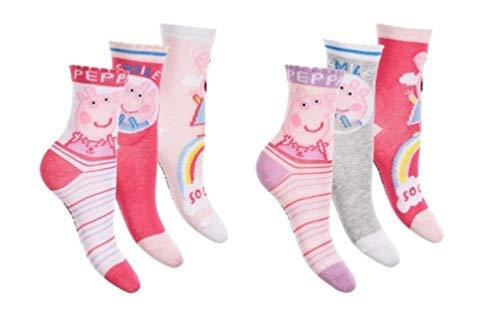 Peppa Wutz Pig Socken-Set für Kinder 3 TLG, Größe:27/30 EU, Motiv:Motiv 2