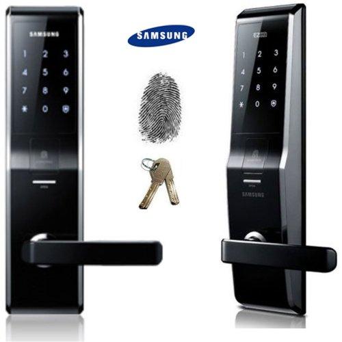 Samsung SHS-5230 Digitales Türschloss, schlüssellos, Touchpad, Sicherheit EZON + 2 Notfallschlüssel