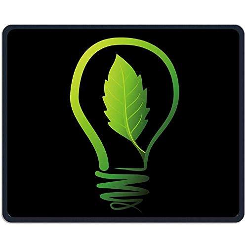 Muismat Creatief Groen Plant Lampen Rechthoek Rubber Mousepad Lengte 18 x 22 CM Gaming Mouse Pad met Zwarte Lock Edge