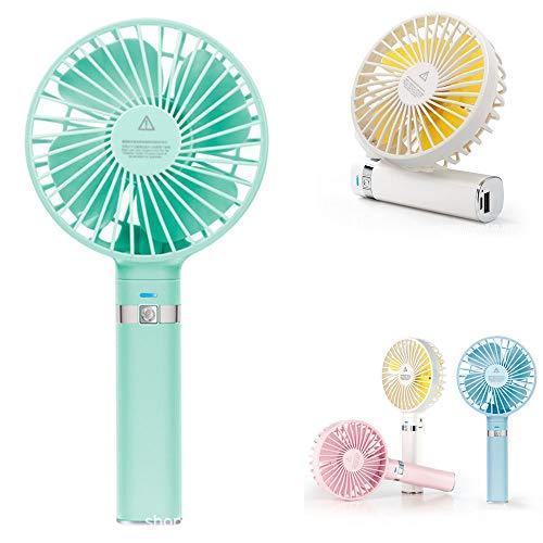 BaiSuiLiang Mini Persoonlijke handheld ventilator, draagbare bureau, kinderwagen, tafelventilator, kleine reis, opvouwbare ventilator, USB-aangedreven koeling, elektrische ventilator voor kantoor, outdoor, huishouden