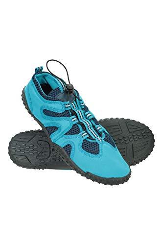 Mountain Warehouse Chaussures Aquatiques Ocean Ajustables - pour Homme - À Enfiler - Doublées en Maille - Tige en néoprène et Semelle intercalaire en EVA - Idéal en été Bleu 42