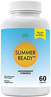Summer Ready Supplement - Polypodium Leucotomos 480mg & Nicotinamide 500mg (Vitamin B3) - Patent Pending Antioxidant Rich Forumula