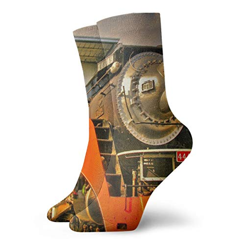 NOT ClassicsCompressionSocks The Southern Pacific 4449 Athletic 11.8inch(30cm) Long Crew Socks for Men Women