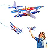 Flying Airplane Toys,Glider Planes for Kids,Electric Power & Throwing Foam Glider Airplane Gifts for Boys Girls Adults Family Outdoor Sport Party
