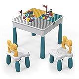 ZhanXiang Juegos de Mesa y sillas niños,Juguete de construcción de Ladrillos Grandes de 90pcs.Mesa de Juego/Mesa de...