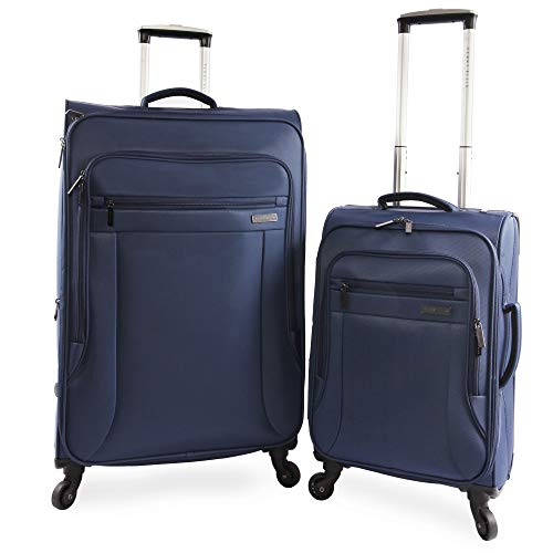 PERRY ELLIS 2 Piece Fortune Lightweight Luggage Set