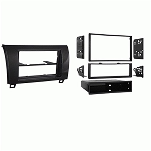 2008-2016 Sequoia and 2007-2013 Tundra No Factory JBL//Premium Amp ASC Car Stereo Dash Install Kit and Wire Harness for Installing an Aftermarket Double Din Radio for some Toyota