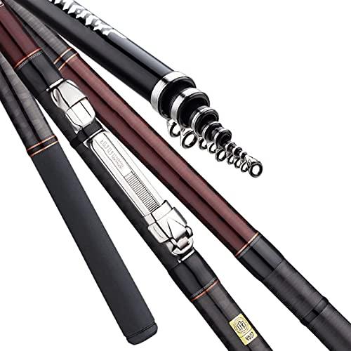 LAMZH Slow Jigging Rod Rod 4.5m/5.3m Full Fuji Parts Sea Fishing Rod Carbon Rock Rod Telescopic Rod Telescopic Fishing Rod (Color : A, Length : 3.0 4.5M)