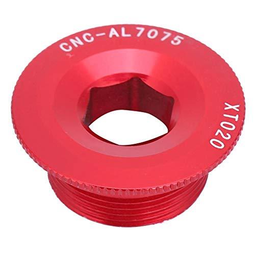VGEBY1 Bulloni della guarnitura, Braccio della manovella della Lega di Alluminio M20 * 10 Viti Bullone con filetti Viti dell'asse BB per Shimano 590 596 XT XTR SLX Pignone Integrato(Red)