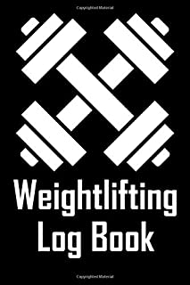 Weightlifting Log Book: Daily Workout Journal with One Rep Max and Treadmill Conversion Charts (black)