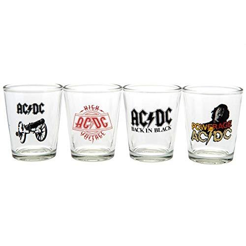AC/DC - Pack de 4 vasos de chupito (Talla Única) (Multicolor)