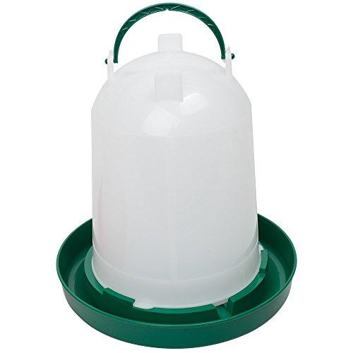 Geflügeltränke 6 Liter, Hühnertränke, Stülptränke, Geflügel-Stülptränke, Kükentränke, Wachteltränke mit Bajonettverschluss und Aufhängung