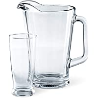 Mainstays 7-Piece Tailgate Glass Pitcher and Drinkware Set