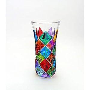Enigma Vase Multicolor Hand bemalt Glas Murano Stil Venedig