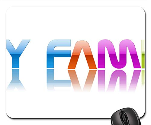 Mouse Pad - Family Title Logo Icon Text 3D Text Design
