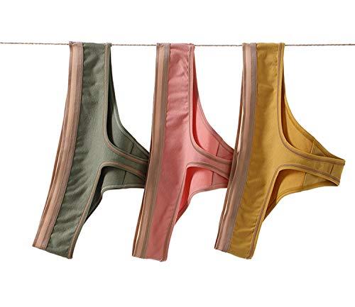 Beirou tバック レディース コットン クロッチ素材:シルク セクシー Tショーツ パンティ スポーツタイプ 響きにくい 美しいヒップライン 快適 通気 下着 美尻 3枚
