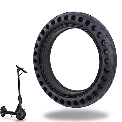 Alomejor Scooter Solid Tire Solid Tire Rubber Electric Skateboard Front Rear Tire with Good Grip for Scooter Electric Bike