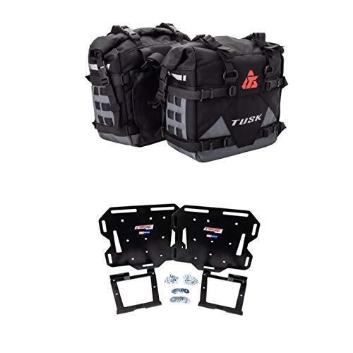 Tusk PILOT Heavy Duty Dual Sport Adventure Saddlebags with Tusk Soft Luggage Mount