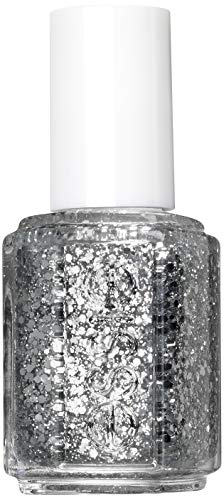 essie Nagellack Silbermetallic Glitzer Luxuseffects set in stones Nr. 278 / Transparenter Topcoat in Silber mit Glitzerpartikeln 1 x 13,5 ml