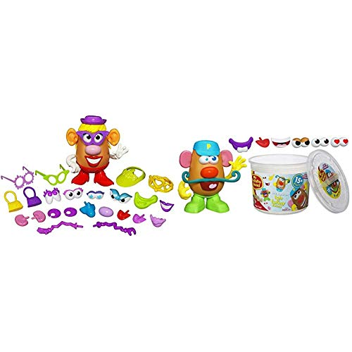 Playskool Mrs. Potato Head Silly Suitcase Parts and Pieces Toddler Toy for Kids (Amazon Exclusive) & Mr. Potato Head Tater...