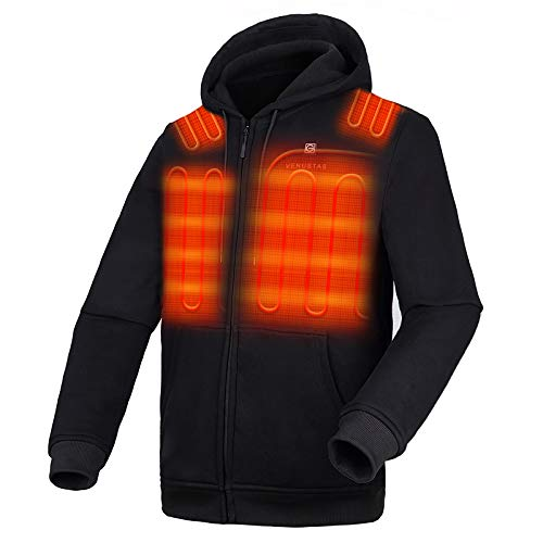 Venustas [2021 Upgrade] Heated Hoodie with Battery Pack (Unisex), Heated Hoodie for Men and Women