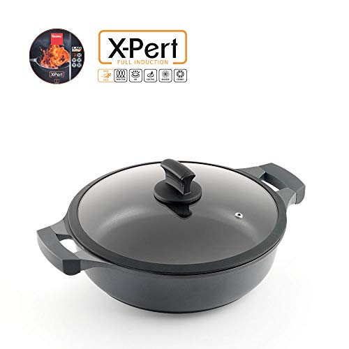 Metaltex XPERT-Cacerola Baja Aluminio Fundido, 26 cm, Antiad