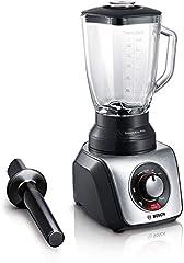 Bosch MMB66G5MDE SilentMixx Pro Stand Mixer, extremt tyst, glasmixer, höghastighetsprogram, 33 000 motorvarv/min,enkel rengöring, svart