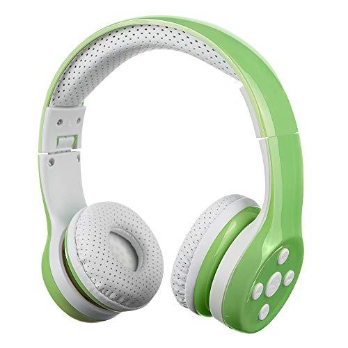 Auriculares Bluetooth para niños, Hisonic Auriculares para niños con volumen limitado compatible con iPhone, iPad,PC,MP3 y más dispositivos Bluetooth, regalo perfecto para los niños(Verde) ⭐