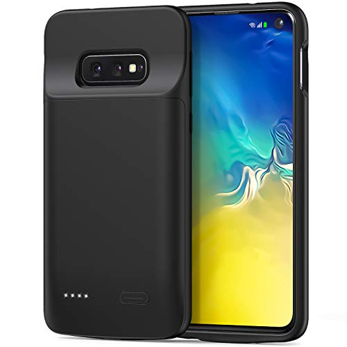 Battery Case for Samsung Galaxy S10e, 4700mAh Portable Charging Case Protective Extended Battery Charger Case Compatible with Samsung S10e (Black)
