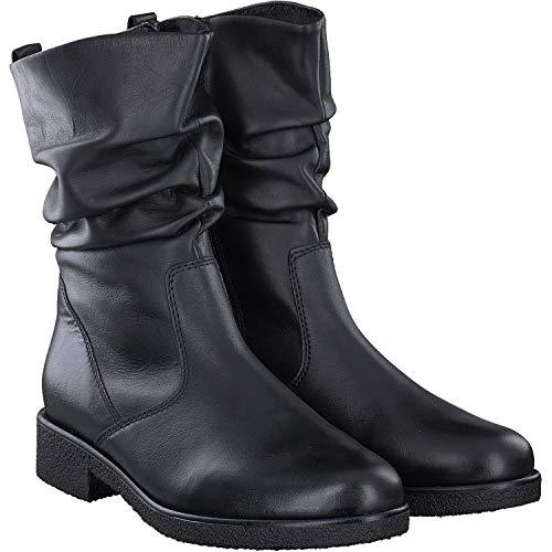 Gabor Damen Elegante Stiefeletten, Frauen Klassische Stiefelette,Optifit-Wechselfußbett,Comfort-Mehrweite,schwarz (Flausch),38 EU / 5 UK