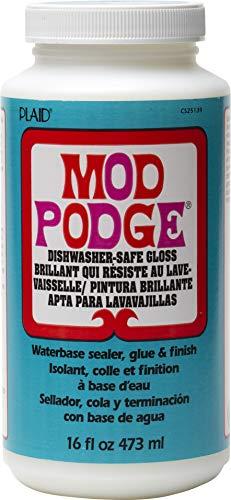 Mod Podge Dishwasher Safe Waterbase Sealer, Glue and Finish (16-Ounce), CS25139 Gloss