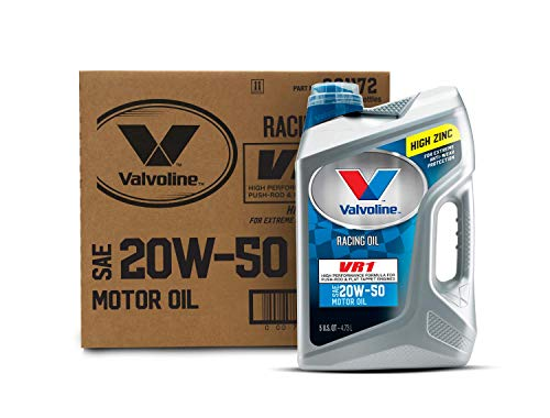 Valvoline VR1 Racing SAE 20W-50 Motor Oil 5 QT, Case of 3