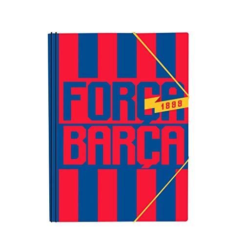 Rubberen map FC Barcelona Força Barça 25 x 35 cm