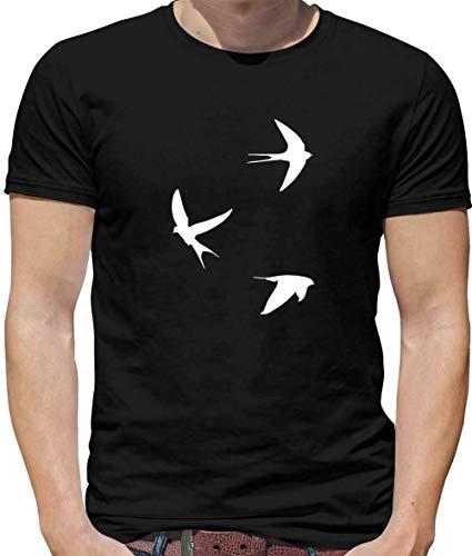 Swallows Heren T-Shirt Bird Liefde Tattoo Vogels Zeilaar cadeau