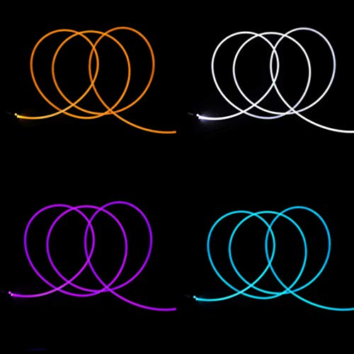 Uonlytech Guirlande lumineuse en fibre optique à LED Multicolore 1 x 5 mm 2 m 500 * 0.15CM blanc