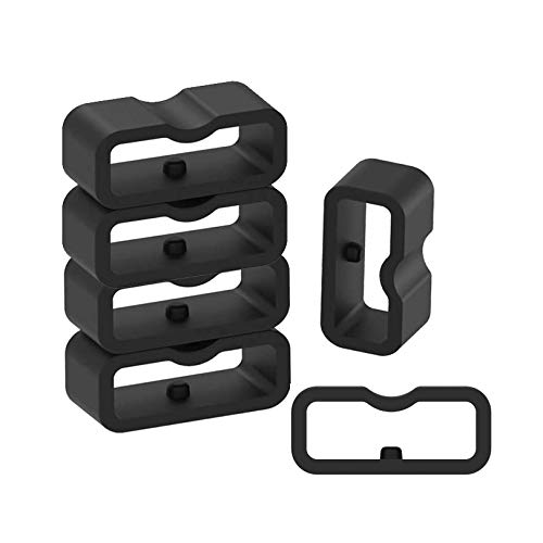 6-Pack Fastener Rings Compatible with Garmin Vivosmart 4/Vivofit 4/Vivofit 3/Vivofit jr/Vivofit jr 2/Vivofit jr 3 Band Keeper, Silicone Replacement Watch Band Loop/Holder/Retainer