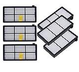 Sweet D HEPA Filtros para iRobot Roomba 800 y 900 Series, Recambios Accesorios, 6 Pcs