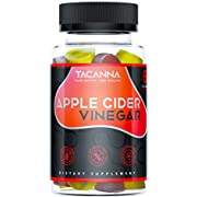 Tacanna Apple Cider Vinegar Gummies All-Natural - 60 Count, Gluten-Free, Non-GMO - Immunity, Weight, Gentle Colon Detox and Cleanse Women, Men, and Kids