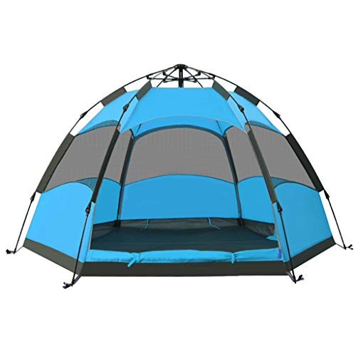 Camping Tents, Hexagon Automatic Pop-up Double Tent | Can Accommodate 3-4 People Waterproof Tent | Suitable For Outdoor And Hiking Trips, Blue