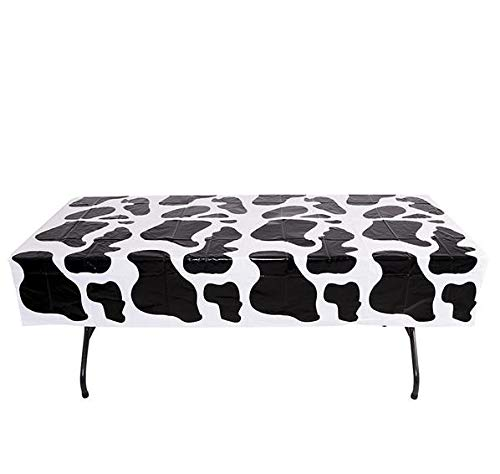 Rhode Island Novelty 54 Inch x 72 Inch Cow PNT Plastic Tablecloth One Per Order