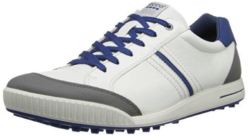 ECCO 15059458806 Chaussures Homme, White/Titanium/Blue, Taille 45