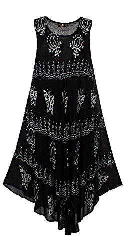 Coline Schwarz-Weiß-Krepp-Kleid (Schwarz, One Size)