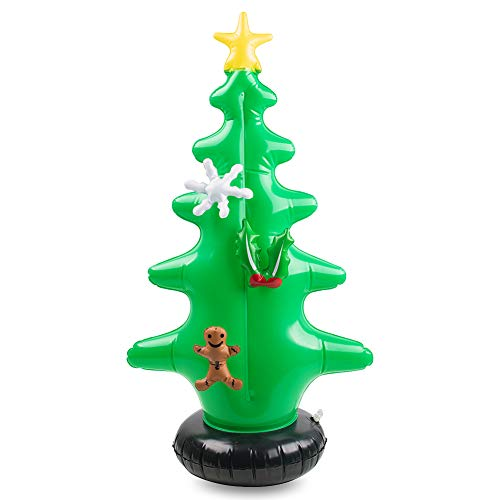 FUTUREPLUSX Inflatable Christmas Tree, Christmas Blow Ups Clearance with 7PCS Christmas Decoration Kit for Ornament Indoor Outdoor Christmas Yard Decoration Holiday Decorations