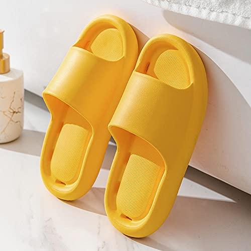 Kirin-1 Flip Flops Herren 49,Sommer Home Badezimmer Deodorant Herren Schnelle Trockene Weiche Bodener Damen-Leck-Hausschuhe-38-39_gelb