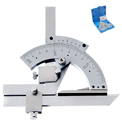 Nonius-Winkelmesser,Präzisions-Universal-Winkelmesssucher Mit Aufbewahrungsbox,Lineal Aus Kohlenstoffstahl Zur Messung Von Innen-Und Außenwinkeln(0-320 °)